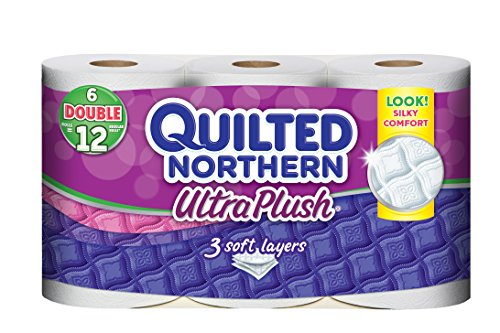 Quilted 3 Ply Ultra Plush Unscented Bathroom Tissue 6 ROL