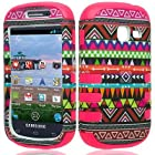 For Straight Talk SAMSUNG Galaxy Centura SCH-S738C Hybrid Case Tribal Hot Pink