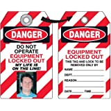 Emedco Danger Equipment Locked Out Tag