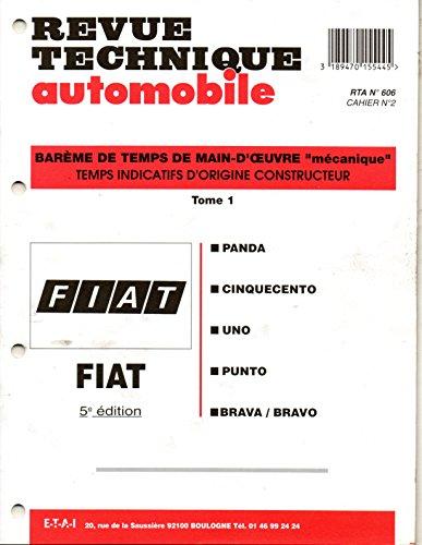 bareme-de-temps-de-main-doeuvre-mecanique-de-la-revue-technique-automobile-fiat-5-eme-edition-tome-1
