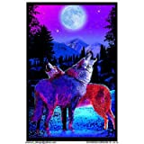 (23x35) Timberwolves Flocked Blacklight Poster