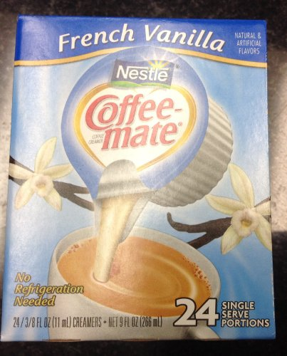 Nestle Coffee Mate Coffee Creamer French Vanilla 24 Single Serve Portions (Pack Of 2)