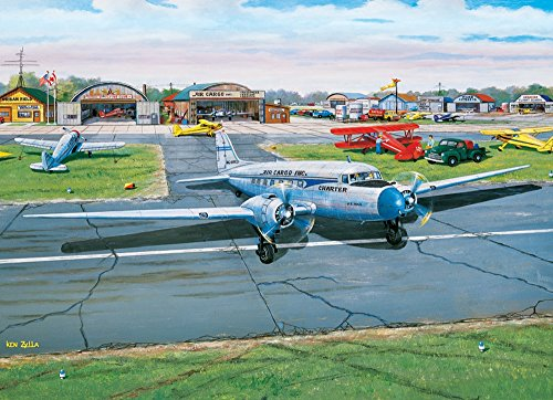 Municipal Airport, A 1000 Piece Jigsaw Puzzle by Cobble Hill (1000 Piece Airplane Puzzle compare prices)
