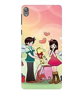 EPICCASE Cutest couple Mobile Back Case Cover For Sony E5 (Designer Case)