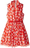 Beautees Girls 7-16 Daisy-Print Shirt Dress with Crinolin Hem