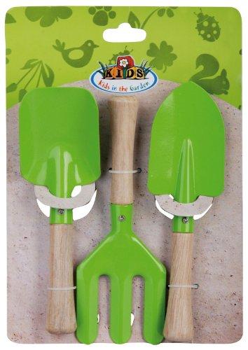 Esschert Design USA KG106 Childrens Small Garden Tool Set, Green