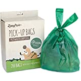 ZippyPaws Dog Poop Waste Pick-Up Bags, 210-count, Green Unscented