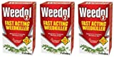 3 x Weedol 2 Fast Acting Weedkiller - 6 x 57g Sachets Treats 180 sq m Area