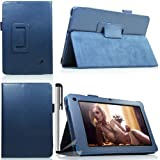 Eallc Smart Leather Stand Case Cover Holder for Acer Iconia B1-A71 (blue)