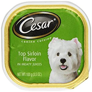 CESAR Canine Cuisine In Meaty Juices For Small Dogs, Top Sirloin, 3.5 Ounce (Pack of 24)