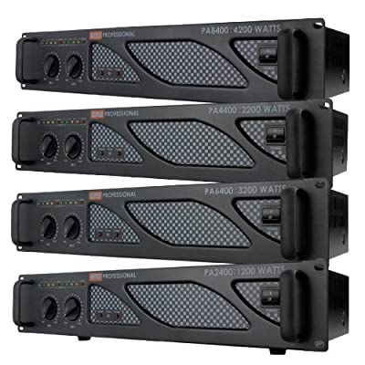 EMB Pro - PA6400 - Rack Mount Professional Power Amplifier - 3200 Watts PA Band Club from EMB
