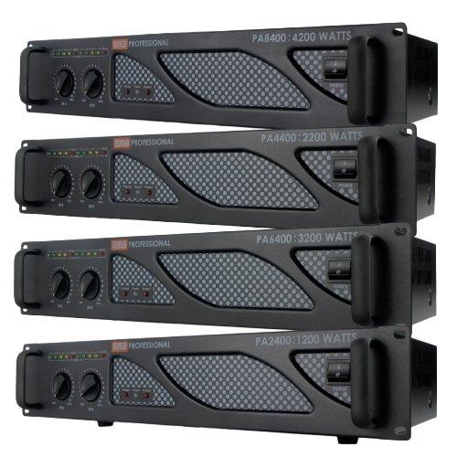 Emb Pro - Pa6400 - Rack Mount Professional Power Amplifier - 3200 Watts Pa Band Club For Home Dj Karaoke Entertainment