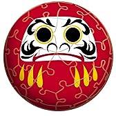 3D球体パズル 60ピース 開運だるま赤 (直径約7.6cm)