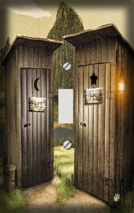 Involvery Country Outhouse Bathroom Decorating Ideas