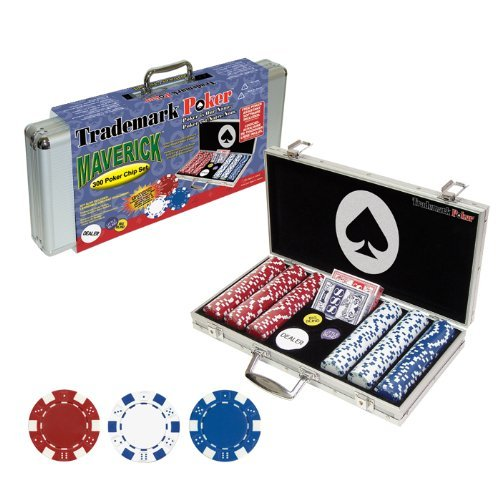 For Sale! Trademark Poker Maverick 300 Dice Style Poker Chip Set