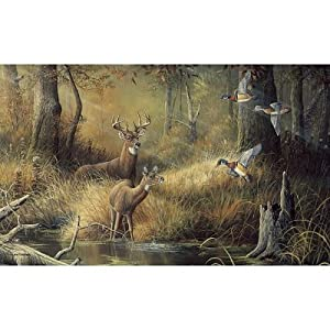99x164 october memories deer ducks hunting for Deer wallpaper mural