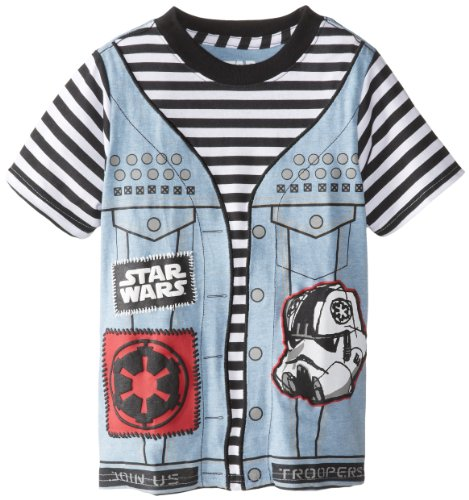 Star Wars Little Boys' Punk Vader Juvy Tee, As Shown, Medium front-543590