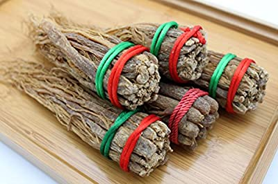 Popular Chinese Herbs Tonic Cuisine Red Ginseng Root 4 Bundles ??? ??? Free Worldwide Airmail by Grand Gift