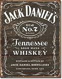 1 X Jack Daniel's - Weathered Logo Metal Tin Sign