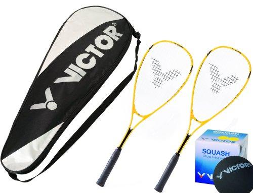 Victor Squashset in verschiedenen Variaten/Ausführungen! Leicht & robust! inkl. Squashball / Squashbälle & Tasche (je nach Variante)