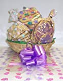 Scott's Cakes Large Easter Garden Dreams Cookie Basket with No Handle Bunny Hop Wrapping