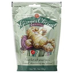The Ginger People Candy Ginger Candy Chews Original 3.0 Oz (Pack of 12)
