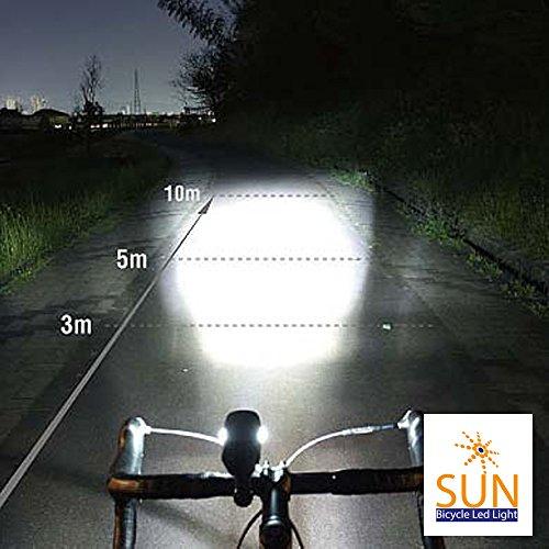 Sun bicycle led light powerful 1200 lumens premium for Bright beam goods