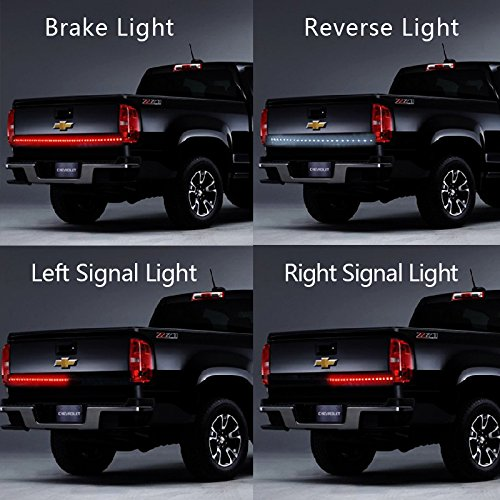 Winblink 60 Inch Auto Tailgate Light Bar Led Tail Light Strip Waterproof Running Reverse Brake Turn Signal for Dodge Ram Truck Ford (Led Tail Lights Toyota compare prices)
