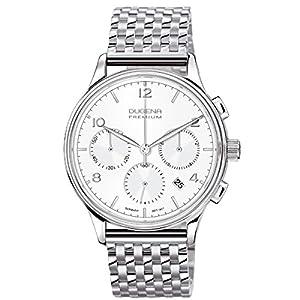 Dugena 7090240 - Reloj de pulsera hombre, acero inoxidable, color plateado