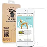 tinxi® Film de protection d'écran en verre trempé pour Apple iPod Touch 5G protecteur optimal et ultra dur protecteur d'écran en verre trempé Transparent 2.5D