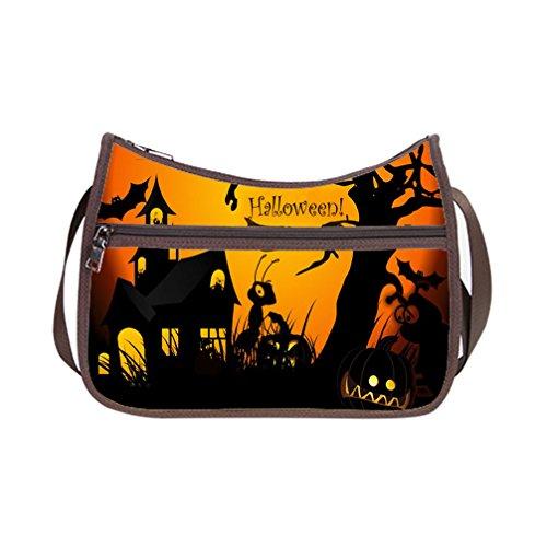 DONGMEN Hallowmas Gifts Fashion Halloween Design Shoulder Customized Classic Hobo Handbag (Twin (Hobo Halloween Costume Ideas)