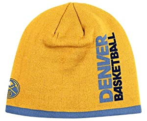 DENVER NUGGETS NBA CUFFLESS TEAM KNIT BEANIE HAT CAP BY ADDIAS-HARDWOOD CLASSICS... by DENVER NUGGETS