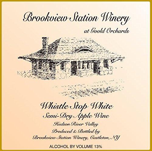 "Nv Brookview Station ""Whistle Stop White"" Semi-Dry Apple Wine 750 Ml"