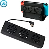 Nintendo Switch Cooling Fan,Aevdor Console Cool System With 3 Cooling Fan for N-Switch Original Stand