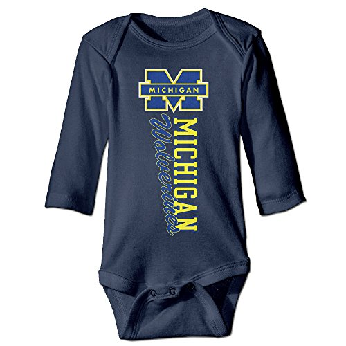 Bro-Custom Michigan Walverines Team Logo For 6-24 Months Newborn Romper Playsuit 12 Months Navy (Polaroid Coffee Cup compare prices)