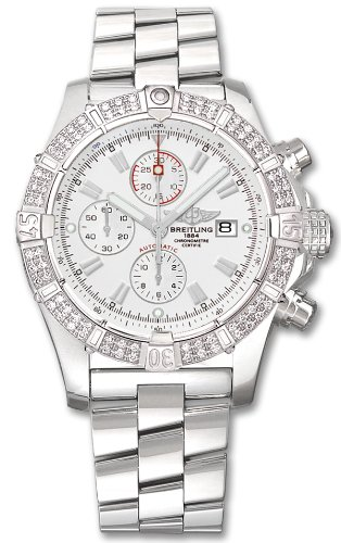 NEW BREITLING SUPER AVENGER DIAMOND MENS WATCH A1337053/A660