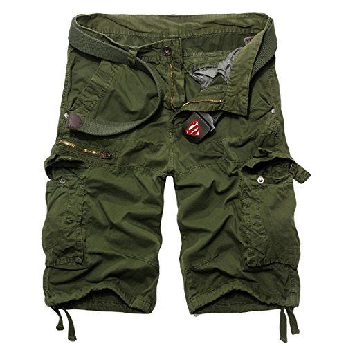 YZCX Pantaloncini corti Jeans leggero Bermuda Cargo short con tasconi laterali