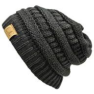 Luxury Divas Black Thick Slouchy Knit…