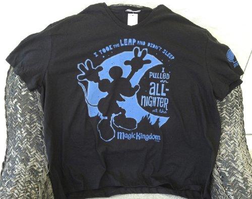 Disney Magic Kingdom Feb 29 Took the Leap Didn't Sleep All Nighter Ladies T Shirt XXL NEW