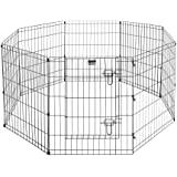 """Pet Trex Exercise Playpen for Dogs with High Panel and Gate, 24 x 30"""""""