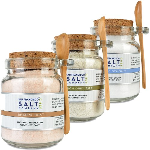 8oz Chef's Jar 3 Pack: Himalayan Salt, French