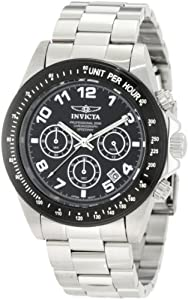 Invicta Men's 10701 Speedway Chronograph Black Dial Stainless Steel Watch