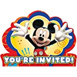 8-Count Mickey Invitations with Sticker Seals