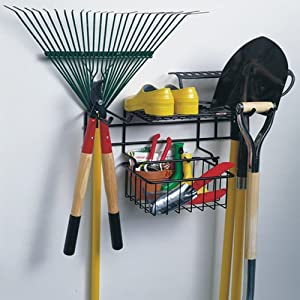 Racor inc garden tool rack general purpose storage for Gardening tools on amazon