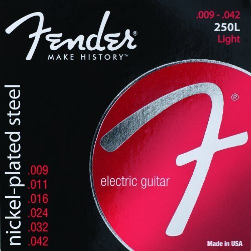 Fender 250L NPS Light 9-42 Electric Guitar Strings 5-PACK (Fender Strings 250l compare prices)