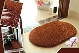 Blogger Super Soft Nonslip Microfiber Beijirong Ellipse Door Mat Floor Mat Bedroom Area Rug Carpet(Coffee)