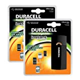 Duracell Instant USB Charger + Universal Cable with USB & mini USB (Pack of 2)