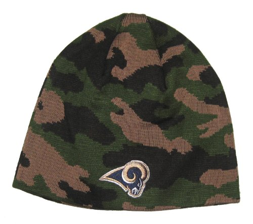 St. Louis Rams NFL Team Apparel Dark Camo Knit Beanie Hat at Amazon.com