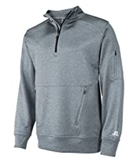 Russell Athletic Men's 1/4 Zip Performance Fleece Cadet