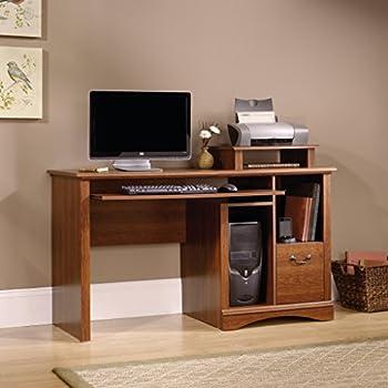 Sauder Camden County Computer Desk, Planked Cherry Finish